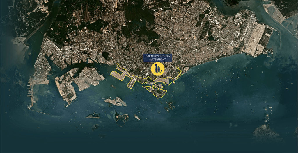 Greater Southern Waterfront Map Singapore