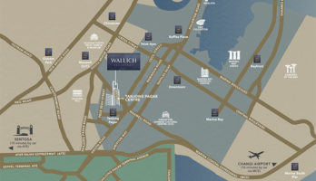 Wallich Residence Location Map Small Singapore